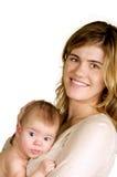 Mère retenant l'enfant nouveau-né photos libres de droits