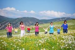 Mères avec des enfants Photographie stock