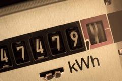 Mètre électrique Image stock