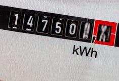 Mètre électrique Photographie stock