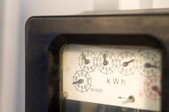 mètre électrique Photos libres de droits