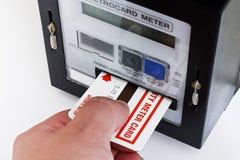 Mètre électrique de carte photographie stock libre de droits