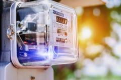 Mètre ampère de watt-heure de l'électricité photo libre de droits