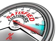 Mètre conceptuel de clients satisfaisants illustration libre de droits