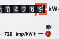 Mètre d'énergie Images stock