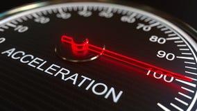 Mètre d'accélération ou indicateur, rendu 3D Illustration Libre de Droits