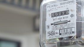 Mètre d'approvisionnement en électricité banque de vidéos