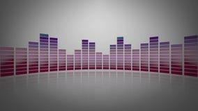 mètre 3d audio vitreux Images stock