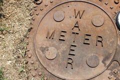 Mètre d'eau photo stock