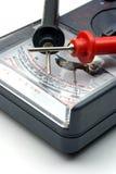 Mètre d'ohm avec des sondes Image stock