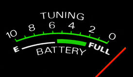 Mètre de batterie Images stock