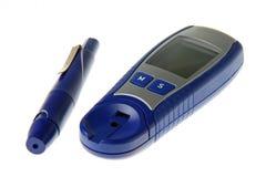 Mètre de glucose Images libres de droits
