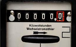 mètre de l'électricité Images libres de droits
