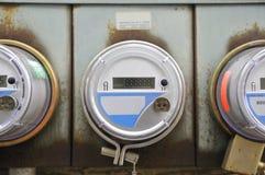 Mètre de l'électricité pour une maison Image stock