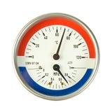 Mètre de la température et de pression Photographie stock