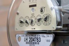 Mètre de service électrique Image stock