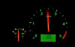 Mètre de T/MN dans un véhicule Image libre de droits