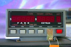 Mètre de taxi Photo libre de droits