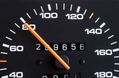 Mètre de vitesse Photographie stock