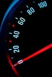 Mètre de vitesse de véhicule Photographie stock