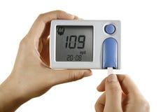 Mètre diabétique de glucose images libres de droits
