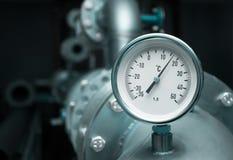 Mètre industriel de la température photo stock
