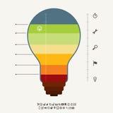 Mètre Infographic d'idée Images stock