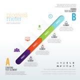 Mètre Infographic de progrès Images stock