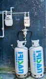 Mètre japonais de gaz et d'eau photo libre de droits