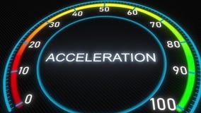 Mètre ou indicateur futuriste d'accélération Rendu 3d conceptuel Illustration de Vecteur
