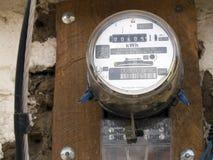 Mètres électriques de ménage Images libres de droits
