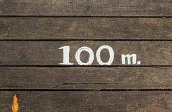 100 mètres Photographie stock libre de droits