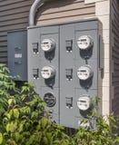 Mètres d'utilisation de l'électricité Photos stock