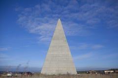 44 mètres de haut la pyramide d'or de rapport Images libres de droits