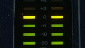 Mètres de niveau maximaux d'une console analogue de mélangeur clips vidéos