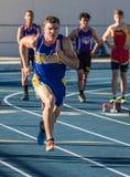 ! 00 mètres de sprint Photo libre de droits