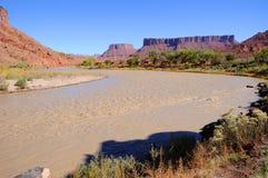 Méandre dans le Fleuve Colorado Images stock