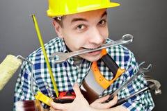 Mécanicien avec des outils Photos stock