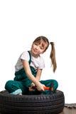 Mécanicien de jeune fille Photo stock