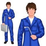 Mécanicien de jeune homme illustration de vecteur