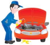Mécanicien de moteur illustration stock