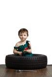 Mécanicien de petit garçon Image libre de droits