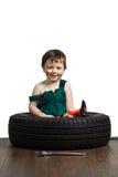 Mécanicien de petit garçon Image stock