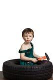 Mécanicien de petit garçon Photo libre de droits