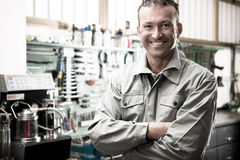 Mécanicien de sourire Image libre de droits