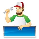 Mécanicien expérimenté avec la barbe Image stock
