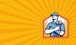 Mécanicien Front de climatisation de réfrigération Photos libres de droits