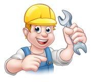 Mécanicien ou plombier Cartoon Character Images libres de droits