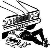 Mécanicien Under Car Image libre de droits
