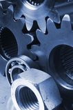 Mécanique dans le bleu Image libre de droits